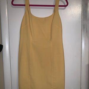 light yellow TAHARI dress